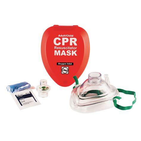 cpr resuscitator mask adult child hard case