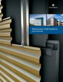 centria releases rainscreen wall systems brochure commercial construction  renovation
