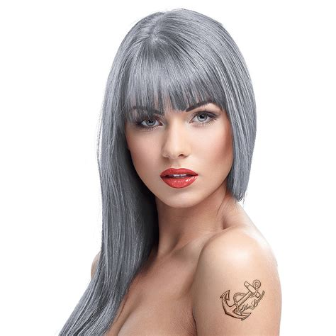 Crazy Color Semipermanent Silver Hair Dye 100ml, Hair Dye Uk