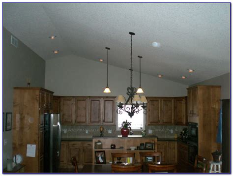 vaulted kitchen ceiling track lighting sloped 1024x768