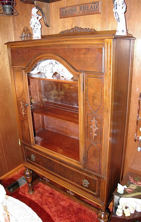 federal style china cabinet  antique furniture collection