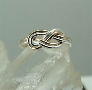 rose gold filled and silver celtic knot ring endless With celtic infinity knot wedding ring
