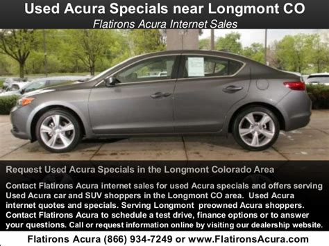 Flat Irons Acura by Used Acura Specials Serving Longmont Co Flatirons Acura