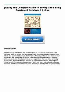 Read  The Complete Guide To Buying And Selling Apartment