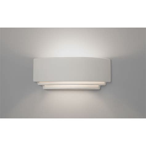 white plaster wall light can be painted in any colour of