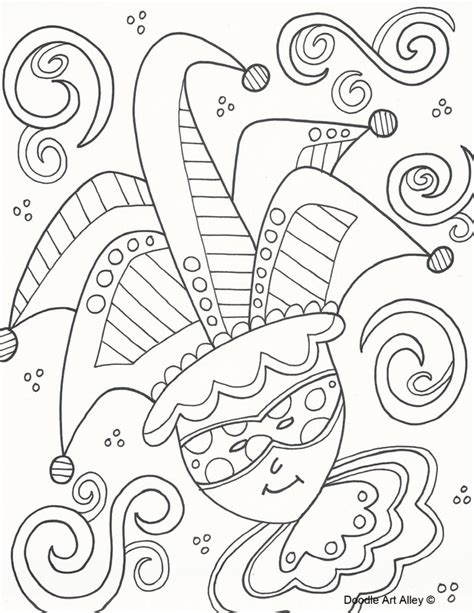mardi gras coloring sheets mardi gras coloring pages doodle alley
