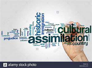 Cultural assimilation word cloud concept Stock Photo ...
