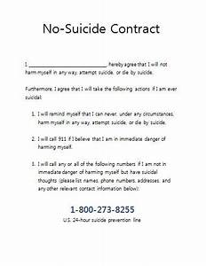 no suicide contract for therapy practices therapist With contract for safety template