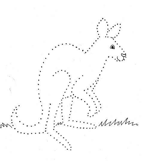 Kangaroo Dot Drawing Samantha Bell