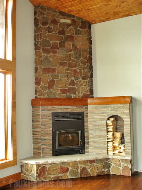 Fireplace Veneers Before And After Creative Faux Panels