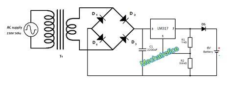 Battery Charger Circuit Mechatrofice
