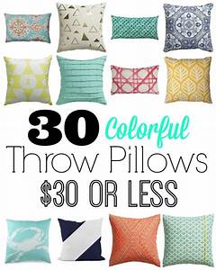 30 colorful pillows for 30 or less With decorative pillows for less