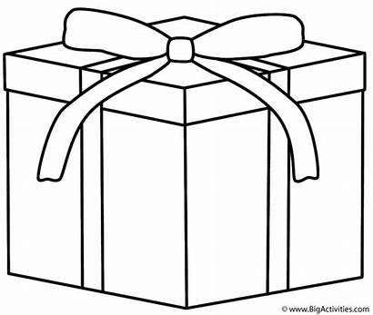 Christmas Hanukkah Coloring Gift Gifts Clipart Cliparts