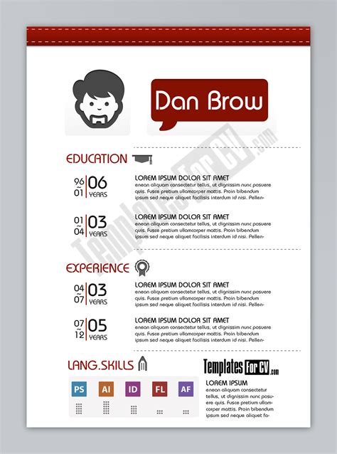 Typography Resume Template by Graphic Designer Resume Sle