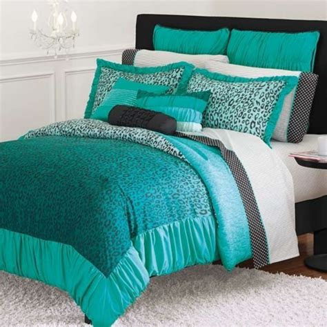 Teal Bedding by Candies Thing Teal Leopard Comforter Xl Ebay
