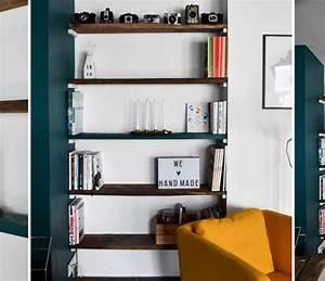 Etagere Sans Equerre : am nager un salon avec une baie vitr e agencement d un salon atypique ~ Teatrodelosmanantiales.com Idées de Décoration
