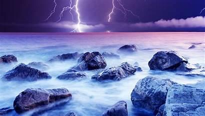Lightning Desktop Wallpapers Nature Violet Backgrounds Cool