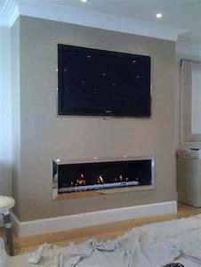Low, Profile, Fireplace, With, Tv, Above, Linear, Fireplace, With, Above, Extraordinary, Best, Ideas