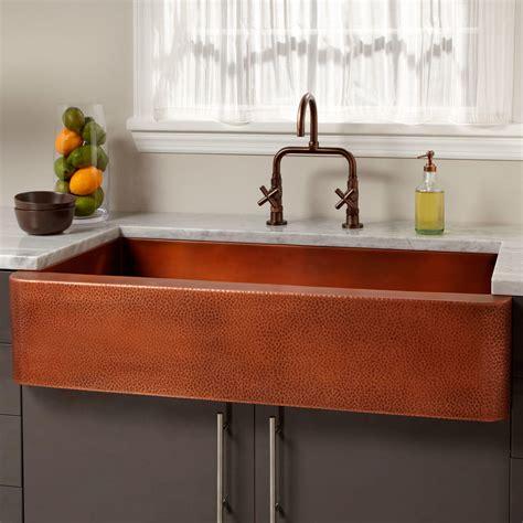 """39"""" Vernon Hammered Copper Farmhouse Sink  Kitchen"""