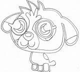 Coloring Moshi Monster Monsters Printable Iggy Getdrawings sketch template