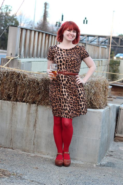 valentines day outfit leopard dress red tights