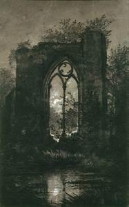 Carl Gustav Carus - Ruine bei Mondschein, nach | A R T ...