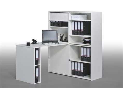 bureau de travail blanc bureau informatique contemporain avec rangement chêne