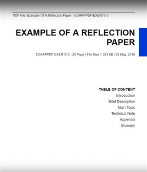 reflective paper format cover letter essay