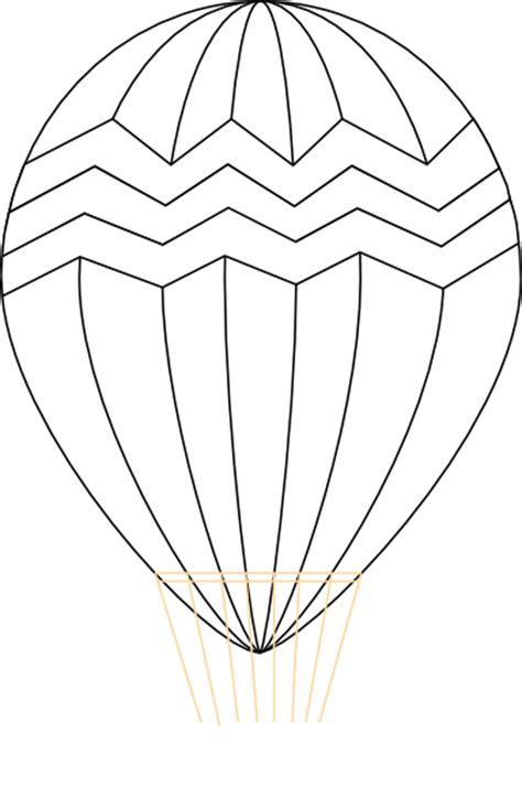 hot air balloon black  white clip art  clkercom