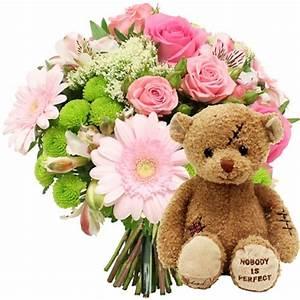 Bouquet De Fleurs : bouquet de fleurs et nounours fleurs pour naissance ~ Teatrodelosmanantiales.com Idées de Décoration