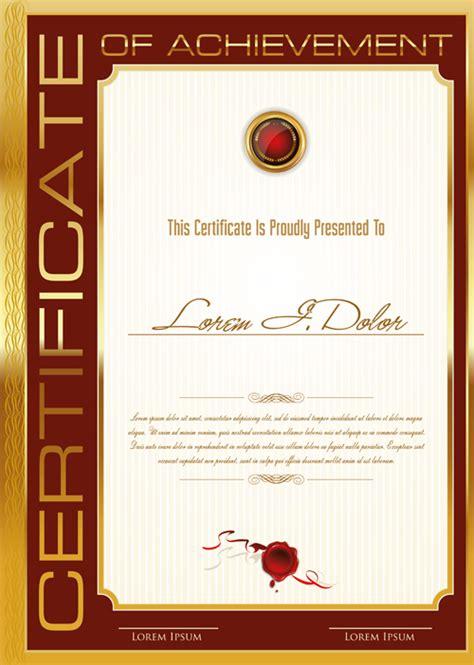 golden frame certificate template vector