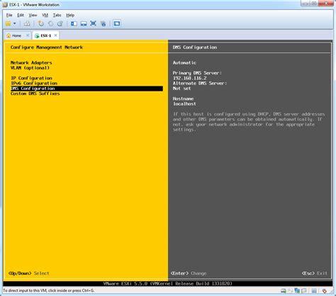 configuration bureau by guide esxi 5 5 installation