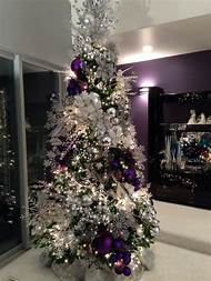 purple christmas tree decorations ideas - Purple Christmas Decorations Ideas