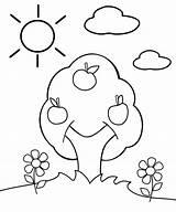 Coloring Apple Tree Preschool Pages Trees Cartoon Plants Appleseed Johnny Preschoolers Flowers Biden Joe Children Version Kidspressmagazine Apples Printable Sheets sketch template