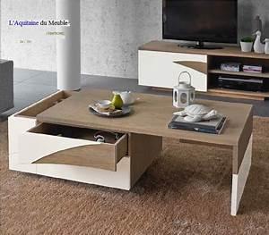 Ensemble Meuble Tv Et Table Basse : meuble tv et table basse meuble de rangement tv maisonjoffrois ~ Teatrodelosmanantiales.com Idées de Décoration