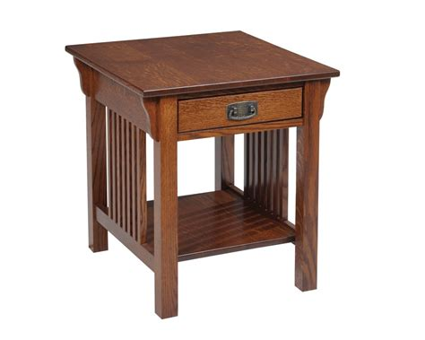 quarter sawn oak kitchen cabinets mission end table with drawer homesquare furniture
