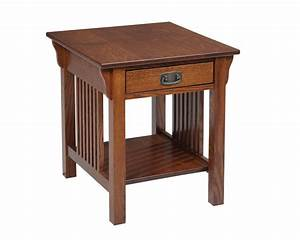 Lexington Mission End Table with Drawer - HomeSquare Furniture