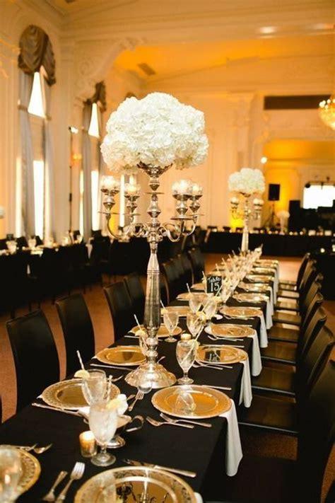 black white  gold wedding ideas happyweddcom