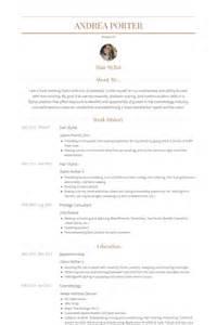 hair stylist resume search hair stylist resume sles visualcv resume sles database