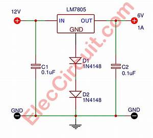 12v To 6v Step Down Dc Converter Circuit