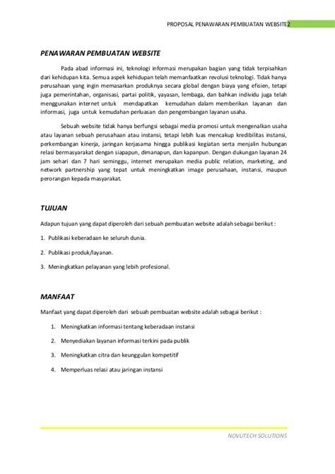 proposal penawaran pembuatan website