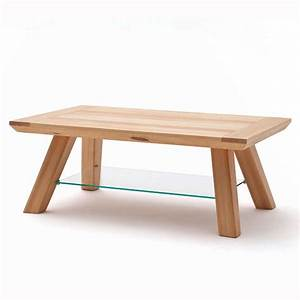 morely wooden coffee table in core beech with glass shelf With small beech coffee table