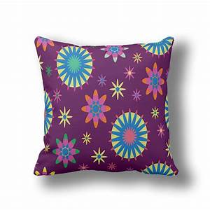 ikathome purple floral fall pillowsboho flower decorative With cheap fall throw pillows
