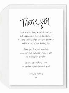 wedding thank you cards wording generic - Wedding Thank