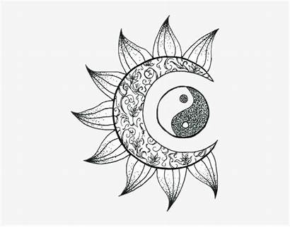 Coloring Flower Moon Sticker Pages Aesthetic Printable