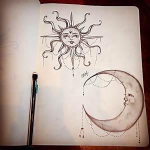 Moon & Sun pencil drawing | The Pencil Heart | Pinterest ...