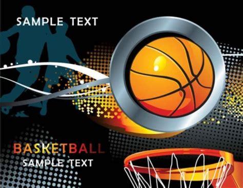 keren basket elemen vektor latar belakang vector latar