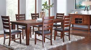 7 dining room sets lake tahoe brown 7 pc rectangle dining room dining room