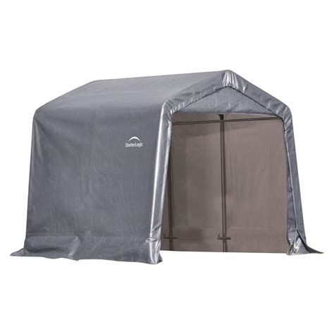 shelter logic shed shelterlogic shed in a box 8 ft x 8 ft x 8 ft grey peak