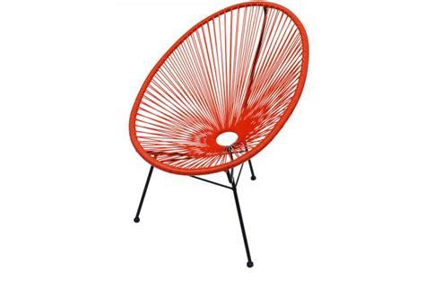 chaise acapulco pas cher fauteuil la chaise longue orange acapulco fauteuil design pas cher